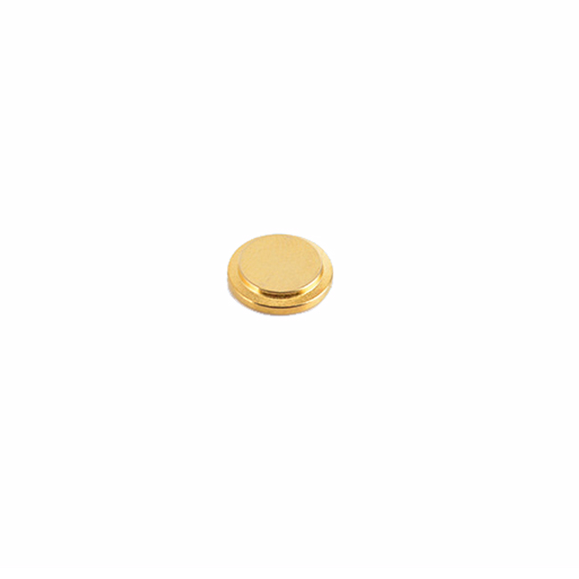 Gold-plated convex magnet