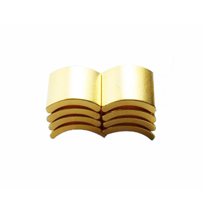 N42SH gold plated magnetic tile