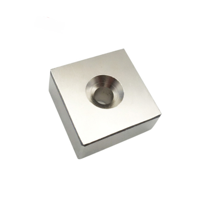 Square sink hole NdFeB strong magnets
