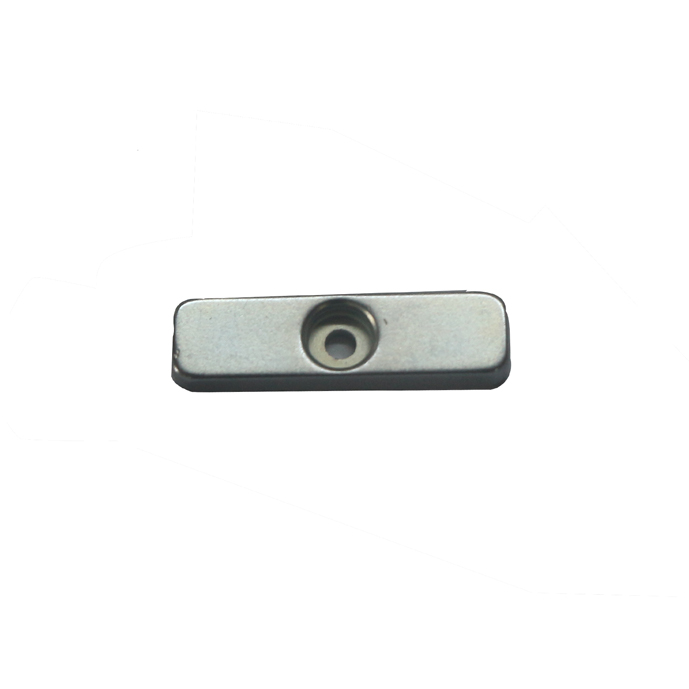Bar neodymium magnet with sink hole