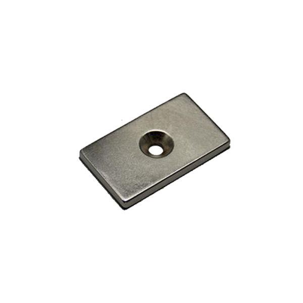 N38 Square countersunk magnet