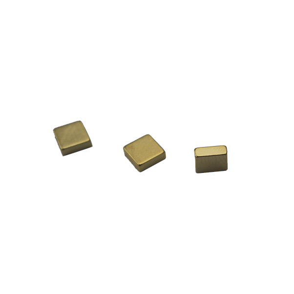 Gold Plated square neodymium magnet