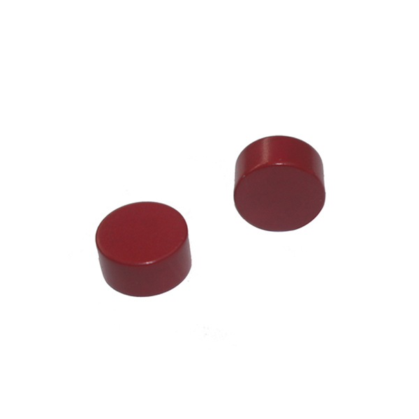 Red epoxy round magnet