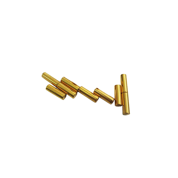 Gold plated cylindrical magnet